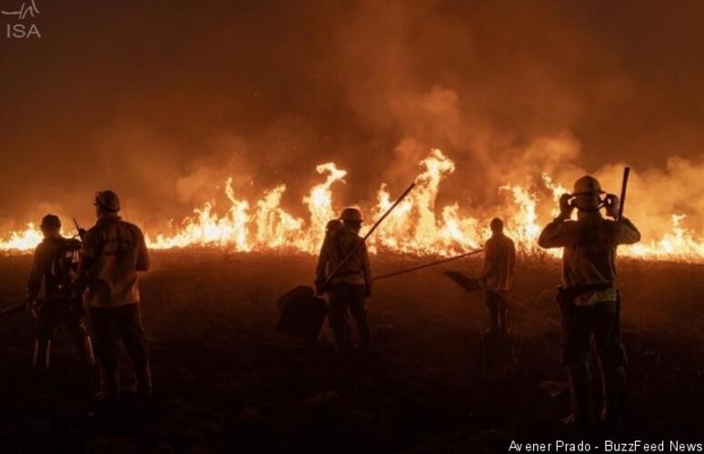 Índios pedem socorro aos produtores para combater incêndios em suas terras