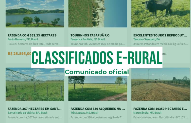 Classificados e-rural - O fim e o início de uma nova história